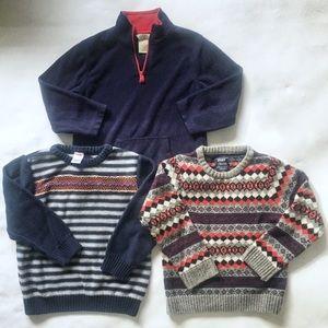 Lot of 3 Boy Sweaters 5T